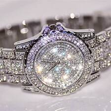 Designer Watch Out MENS Silver Shiny Crystal Bling Ice Diamond Shine Time Piece