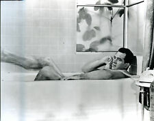 GLOSSY PHOTO PICTURE 8x10 Rock Hudson In Bathtub