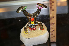 Ron Lee Clown Handstand Figurine on Onyx Base signed 1985 Look! Nice! Jsh