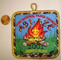 OA UTAH NATIONAL PARKS COUNCIL FLAP ABLAZE 2001 SCOUT-O-RAMA GMY POCKET PATCH