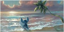 Disney Fine Art Limited Edition Canvas Waiting For Waves-Stitch-Rob Kaz