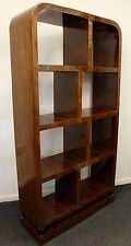 ANTIQUE ART DECO STYLE FURNITURE BOOKCASE IN ROSEWOOD LIBRARY SHELF UNIT - C214