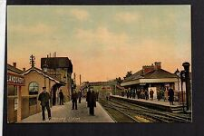 Llandovery Railway Station - colour printed postcard
