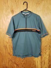Pearl Izumi Cycling Bike Jersey Shirt Top Grey 1/4 Zip Short Sleeves Men's Med