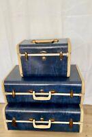Vintage Samsonite Shwayder 3pc Luggage Set w/KEYS