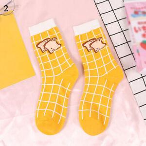 Women Girls Funny Cartoon Socks Autumn Winter Cotton Harajuku Middle Tube Socks