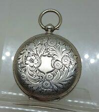 Antique solid silver ladies pocket watch case c1900