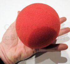 GIGANTE ROSSO palline di spugna 1 GRANDE ENORME schiuma trucco magia diametro