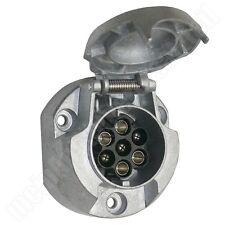 Metall Steckdose 7pol. 7 polig aus Aluminium für Anhängerkupplung Pkw Anhänger