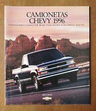 1996 Chevy Camionetas Brochure - Spanish - Tahoe - Suburban - Blazer - Chevrolet