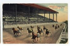 Horse Racing Racetrack at New York State Fair SYRACUSE NY Vintage Postcard