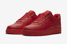Nike Air Force 1 LV8 Low Triple Red Sneakers Men's Lifestyle Casual Shoes