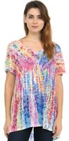 Hibiscus on Colorful Tie Dye Soft n light One By One Print Sublimation SVT-R340