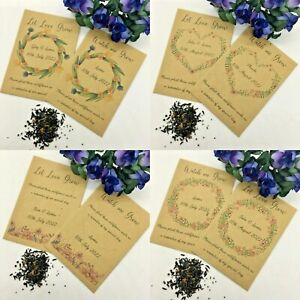 10 x Personalised Wild flower Seed Wedding Favours Communion Christening