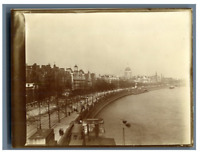 Great Britain, London, View over the Thames  vintage silver print Tirage argen