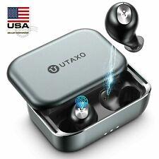 Utaxo Wireless Earbuds W/Mic Bluetooth 5.0 Stereo Headphones Wateproof Ipx7