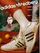 "Classic 1987 Adidas ""Stefan Edberg"" Tennis Collection Print Ad"