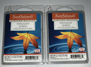 ScentSationals TWILIGHT LEAVES Highly Fragranced Wax Cubes 2.5 Oz Lot Of 2