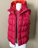 Michael Kors Layered Full Zip Up Puffer Quilted Goose Down Hooded Vest Jacket XS