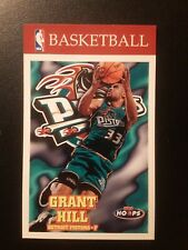 1997-98 NBA Hoops GRANT HILL #48 Promotional Store Display Card