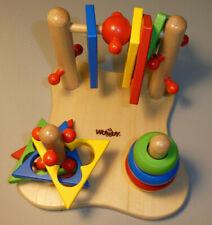 Motorik-Kinderspielzeug Woody Steckpiel