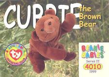 Ty Beanie Babies Bboc Card - Series 2 Common - Cubbie the Bear - Nm/Mint
