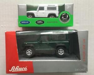 Schuco - 1.43 / Welly 1.60 -  Land Rover Defenders