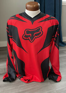 Fox Racing Men's HC Race Dirtbike Motorcycle Jersey L Red Black Cycling