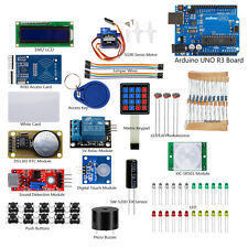 Arduino RFID Starter Learning Kit &UNO R3 Mainboard 1602 LCD Sensor DIY Projects