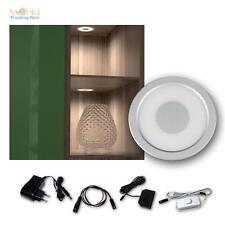 5er Set LED Einbauleuchte warmweiß Aluminium-Optik, Einbaustrahler Spot Strahler