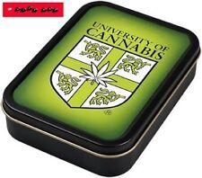 Square box lata de metal con tapa (hermético) motivo University of Cannabis