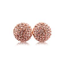 Shamballa 8mm Earrings Ball Stud on Silver with Genuine PRECIOSA Crystals