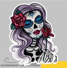 Skull Woman Beauty Flower Vinyl Sticker Decal Window Car Van Bike 2847