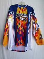 FLY motocross BMX ATV jersey KINETIC Deviant adult MENS small blu/red/yel/org