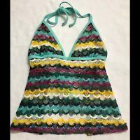 Boho Crochet Swimsuit Top Size M Crop Top Plays By La Blanca