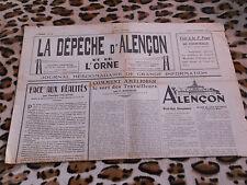 Journal - La Dépêche d'Alençon et de l'Ornen° 18, 24/02/1949