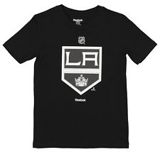 Reebok NHL Boys Youth Los Angeles Kings Short Sleeve Team Logo Tee, Black