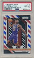 Deandre Ayton Panini Prizm Rookie Card #279 Red White And Blue Refractor PSA 10