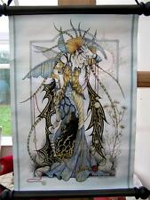 Nemesis now linda ravenscroft pierres de lune l'enchanteresse scroll wall hanging