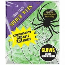 Halloween Green Glow in the Dark Spiders Web/Cobweb Decoration 100g