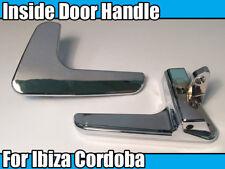 1x Interior Handle For SEAT Ibiza Cordoba Left Side Door Chrome Inside Door