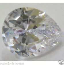 10.0 x 12.0 mm 4.00 ct PEAR Cut Sim Diamond, Lab Diamond WITH LIFETIME WARRANTY