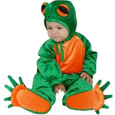 Plush LITTLE FROG Green Baby Costume Jumpsuit Infant Toddler 6 9 12 15 18 months