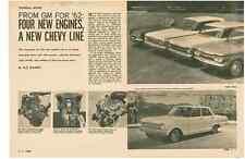1962 GM / GENERAL MOTORS NEW CARS  ~  GREAT ORIGINAL 11-PAGE ARTICLE