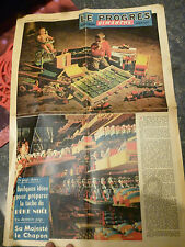 Article Journal ancien Jouets Bois Moirans1956 Camion Donald Train Cheval Piano
