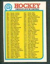 1982-83 OPC O PEE CHEE HOCKEY 396 CHECKLIST UNMARKED NM