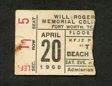1968 Beach Boys Buffalo Springfield Strawberry Alarm Clock Concert Ticket Stub