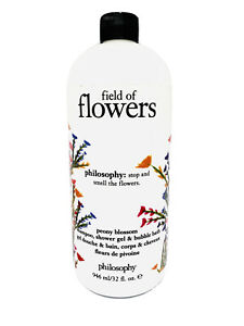 Philosophy Field Of Flowers Peony Blossom Shampoo Shower Gel & Bubble Bath 32 oz
