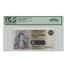 *jcr_m* SCOTLAND 5 POUND 1987 (1987-1989) P.212D PCGS-65 *UNCIRCULATED*