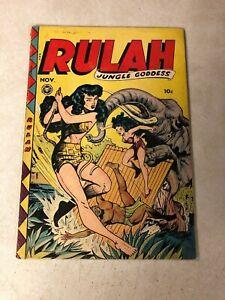 RULAH #20 jungle goddess 1948 sexy action CARNIVOROUS BLONDE